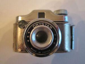 1950'S CRYSTAR TINY SPY CAMERA WITH CASE - NO FILM - TUB RR