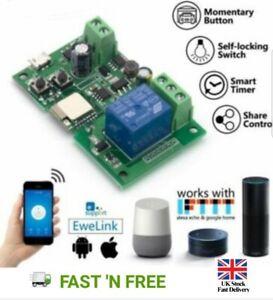 Jog-Auto-Lock-inteligente-Wi-Fi-Modulo-de-Rele-conmutador-inalambrico-DC-5V-12V-por-control-de-la
