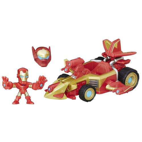 Marvel Super Hero Mashers Sonic Overdriver Vehicle and Iron Man Figure
