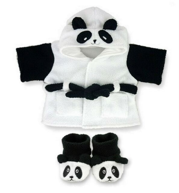 Teddy Bear Clothes fits Build a Bear Teddies Clothing Panda Robe and Slippers