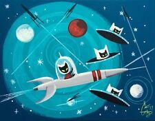 EL GATO GOMEZ RETRO GEEK POP ART SPOCK OUTER SPACE VINTAGE SCI-FI STAR TREK DEVO