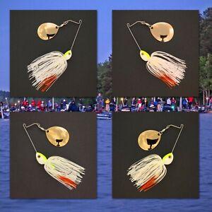 Bassdozer-spinnerbaits-SHORT-ARM-THUMPER-WHITE-ORANGE-spinner-bait-baits