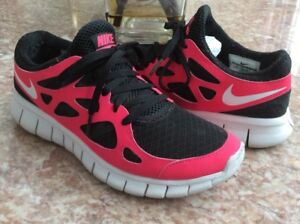 Nike Free Run +2 Women s Black Cherry Athletic Running Shoes Size 6 ... be282ce19