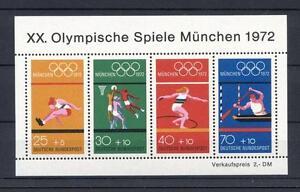 Bund-Block-8-Block-Einzelmarken-Postfrisch