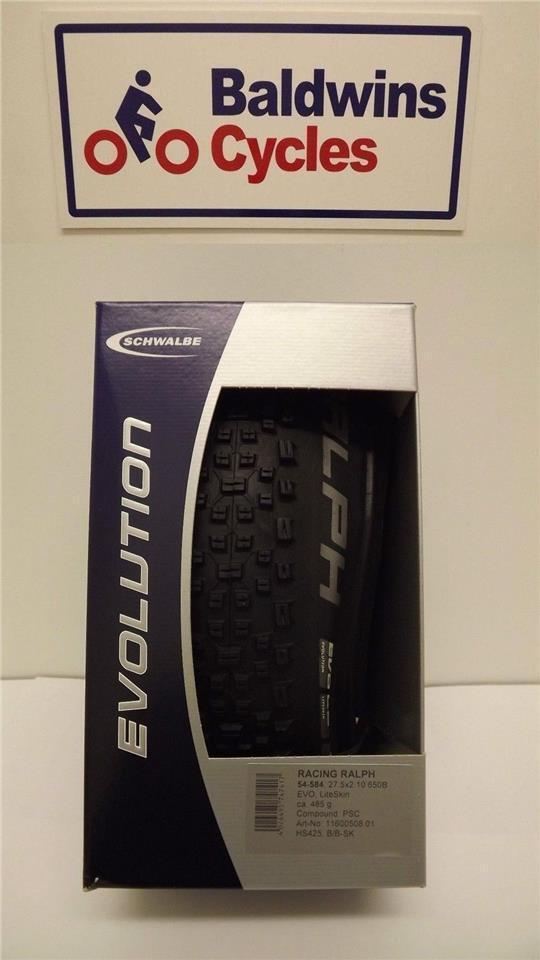 27.5  x 2.10 (650B) Schwalbe RACING RALPH Evo LITESKIN Folding Bike Tyre 508