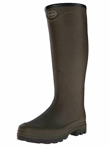 Le Chameau Men's Country XL Jersey Lined Wellington Boots-Green (Hunting)