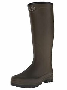 Le Chameau Men s Country XL Jersey Lined Wellington Boots-Green ... 2925550db04