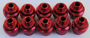 RED Dia-Compe aluminum alloy bicycle brake lever end buttons PACK OF 10