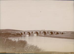 Albert-Tunis-Pont-sur-le-Medjerda-Vintage-citrate-print-Tirage-citrate
