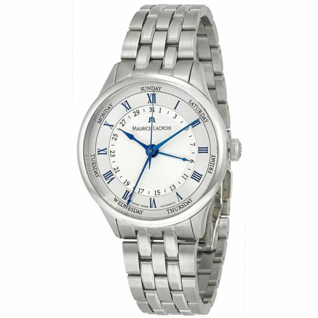 Maurice Lacroix MP6507-SS002-110 Men's Masterpiece Silver Automatic Watch
