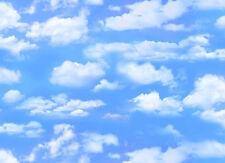 Blue Sky, Clouds, Landscape Medley, Elizabeth's 505 Light Blue (By 1/2 yard)