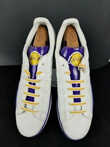 Details about ADIDAS Men 18 Campus II LA Los Angeles Lakers NBA Low Top Basketball Shoes