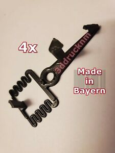 4x-kompatibel-zu-Playmobil-Kupplung-Spur-G-Kupplungsfeder-LGB-Eisenbahn-Schwarz