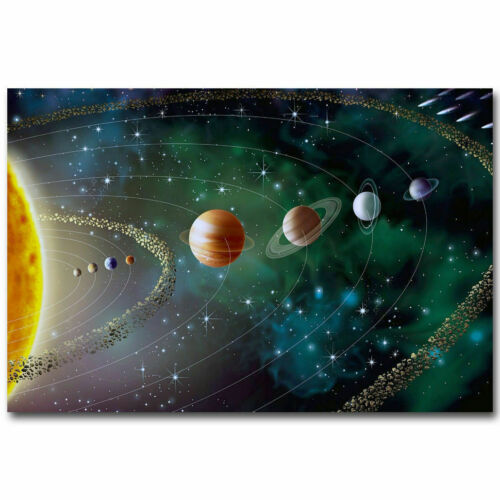 H831 The Solar System Nature Galaxy Space Stars Nebula Hot Poster 27x40in