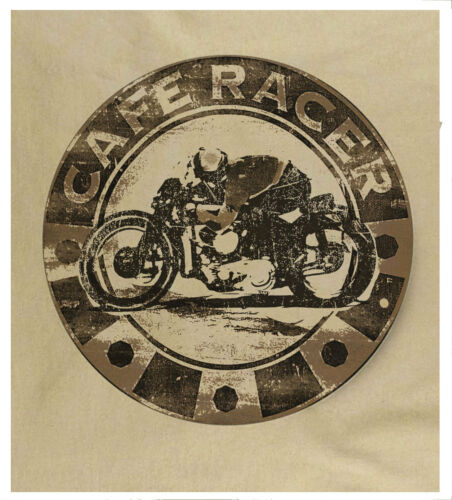 Men/'s Cafe Racer Motorcycle Generous Sizing heavy Cotton Free Fast UK Delivery