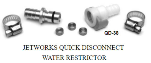 Connector Quick Jet ski PWC Quick disconnect water restrictor Jet Works