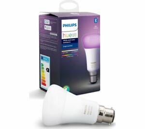 NEW PHILIPS HUE Hue White /& Colour Ambiance Bluetooth LED Bulb B22