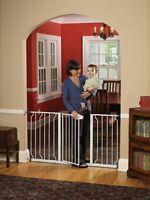 Walk Thru Baby Gate Extra Wide Large Size Pet Animal Child Safety Secure Door