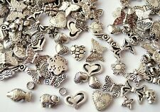 CLEAROUT 70g Tibetan Silver Mix Spacer Charm Beads Flower Butterfly 55-70 pieces