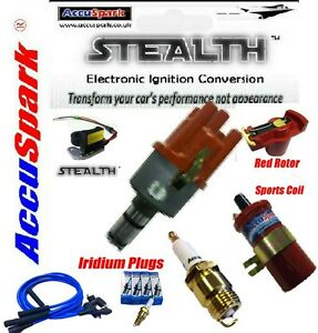 Vw-Beetle-009-electronico-Distribuidor-Deportes-Bobina-Azul-conduce-Rotor-Iridium-Enchufes
