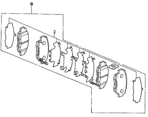 Genuine OEM Honda Civic Front Brake Pad Set 01-05 Except Hybrid Brakes Pads