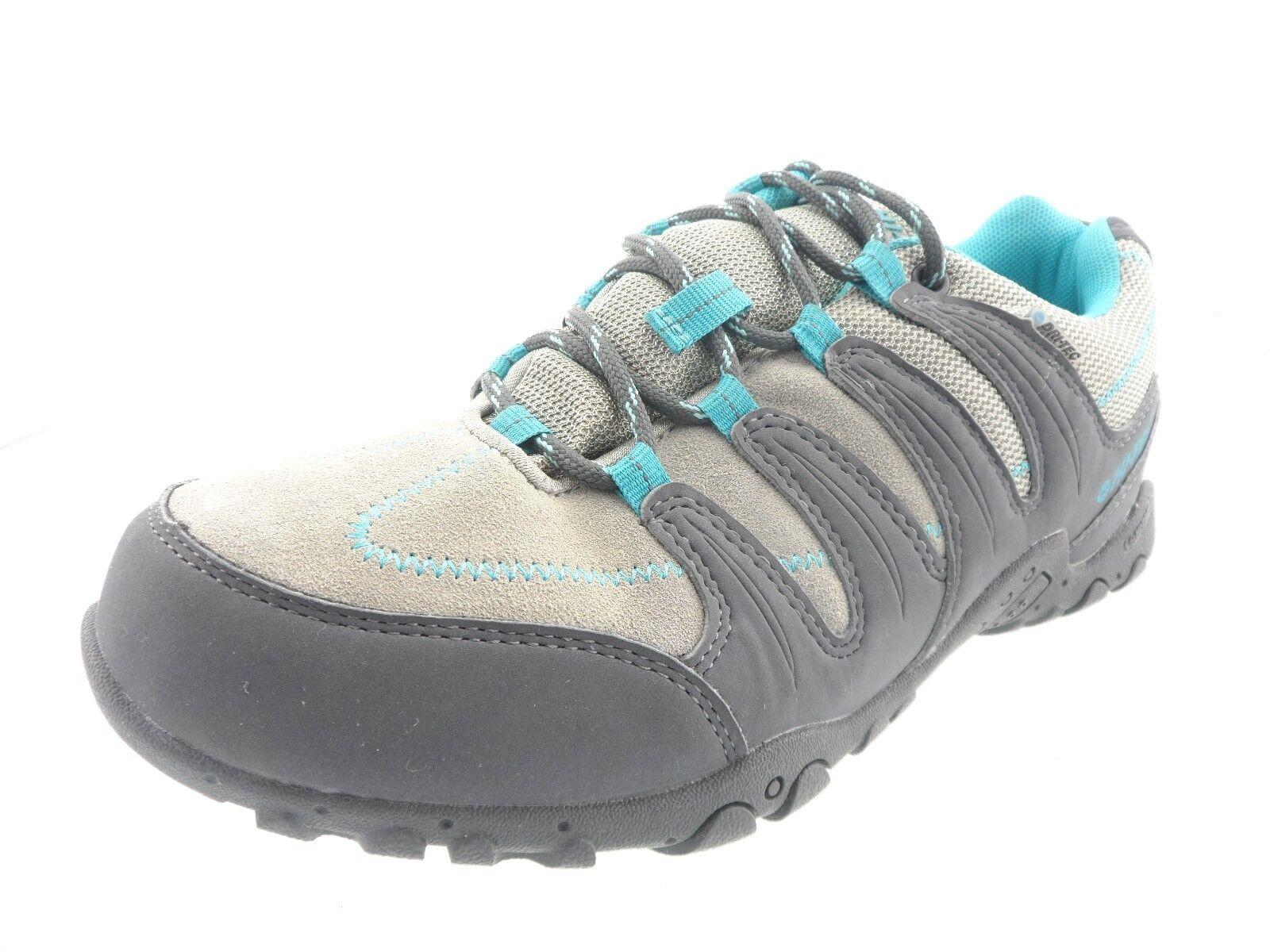 HI-TEC Women's Romsey Low WP Hiking Womens Casual Green/Grey Shoes Size 8M