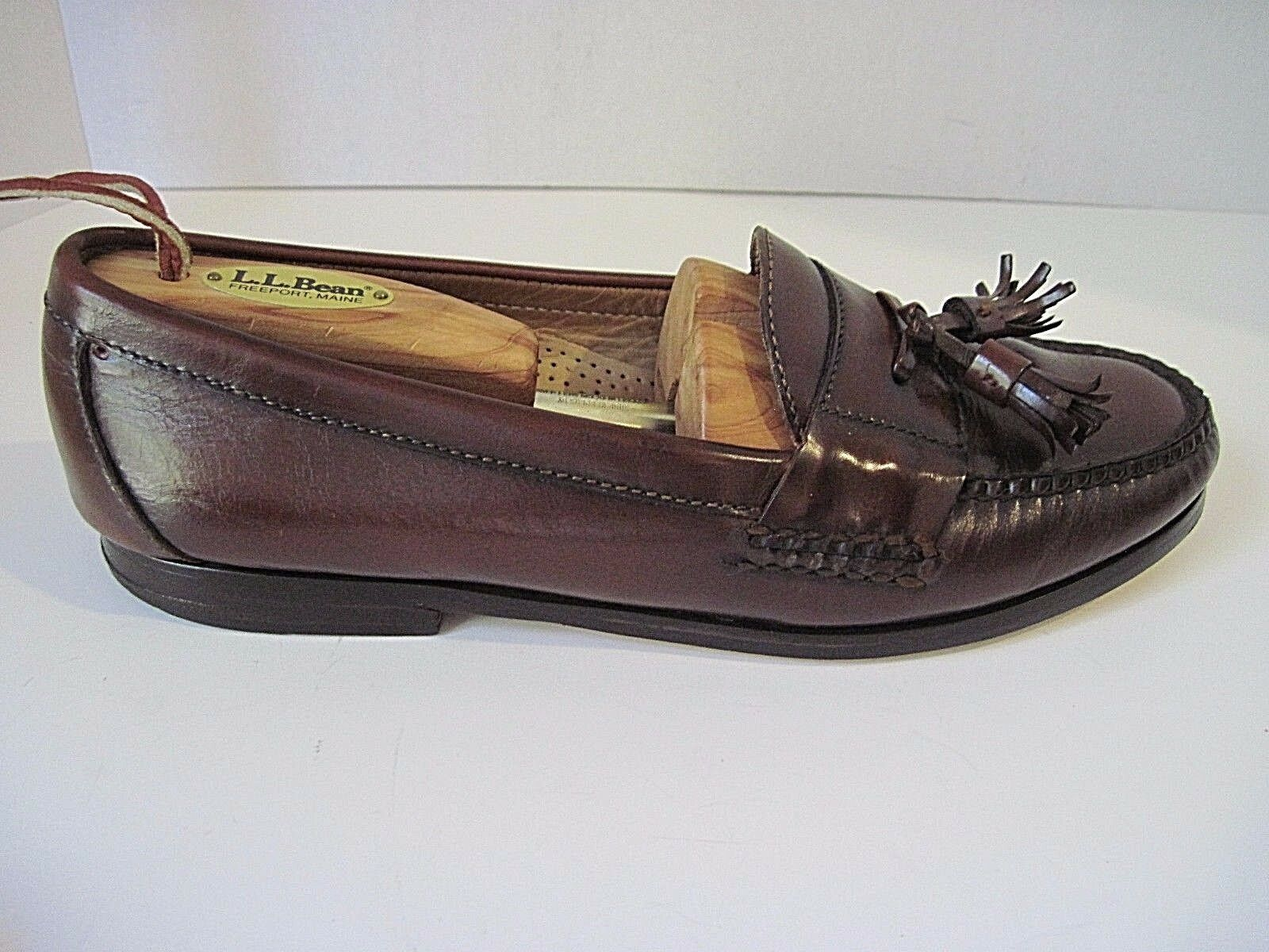 COLE HAAN Penny Brown Leather Moc Toe Tassel Loafers Men's Casual shoes 10 D
