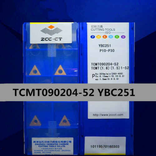 1.5 ZCC.CT TCMT090204-52 YBC251 TCMT 1.8 1-52 P10-P30 10Pcs Carbide inserts