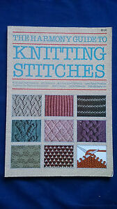 THE-HARMONY-GUIDE-TO-KNITTING-STITCHES-Craft-Book-VINTAGE-1984