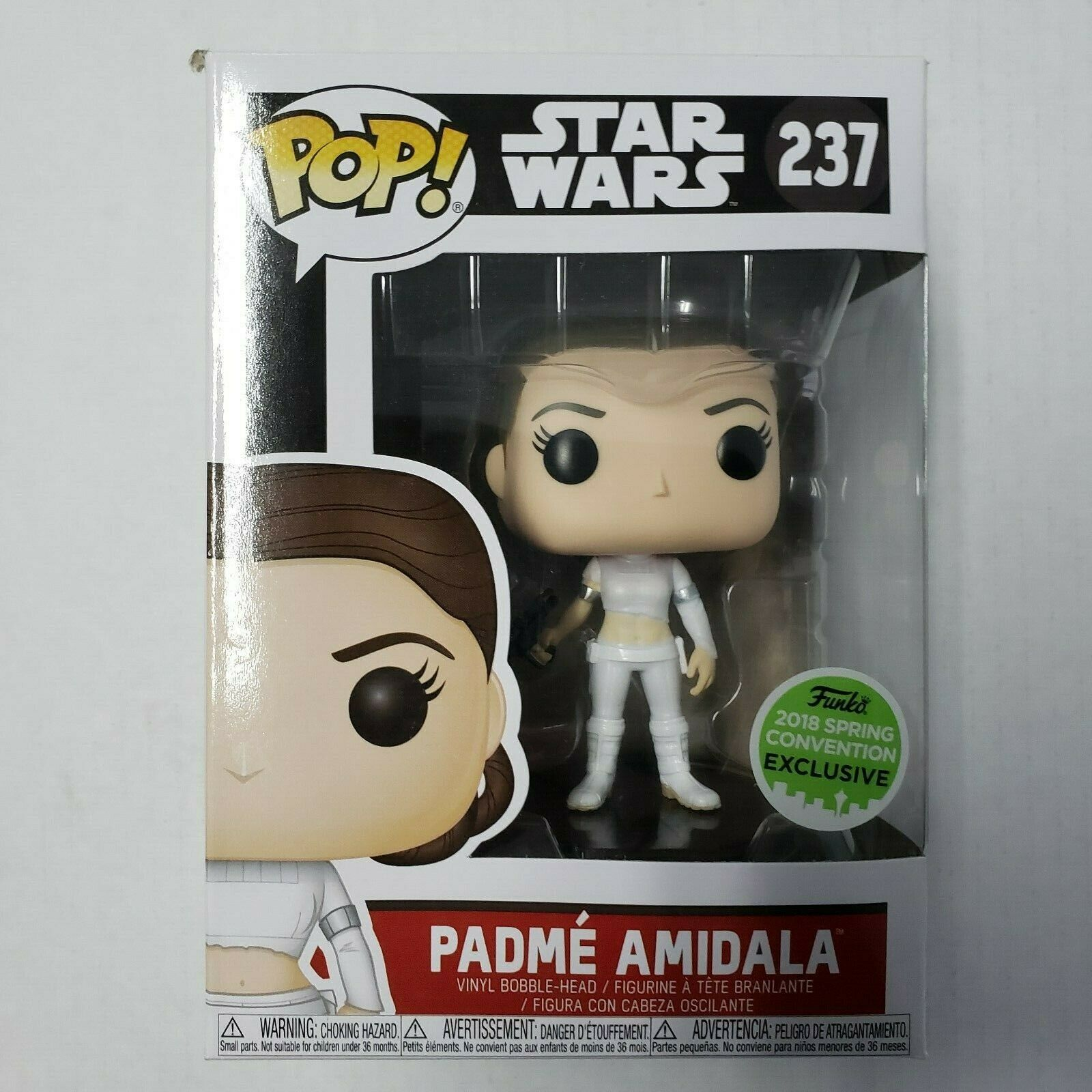 Funko Pop Vinyl FIGURINE padme amidala Convention Exclusive Star Wars #237