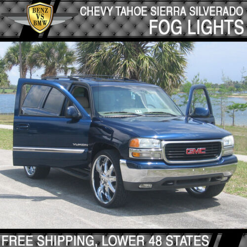 Fit 99-02 Chevy Silverado 00-06 Suburban Tahoe Front Driving Fog Light Kits 2PCS