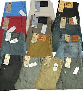 New-Men-039-s-Levi-039-s-Jeans-511-Slim-Fit-Leg-Line-8-Corduroy-Trouser-Khaki