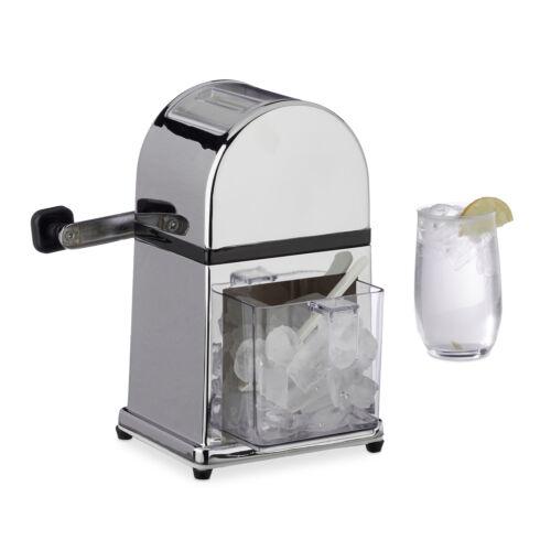 Ice Crusher manuell Metall Eiszerkleinerer Eiscrusher Maschine mit Eisschaufel