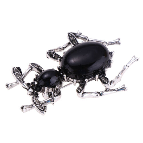Fashion Enamel Vivid Ant Insect Suit Shirt Brooch Pins Jewelry Gift in Black