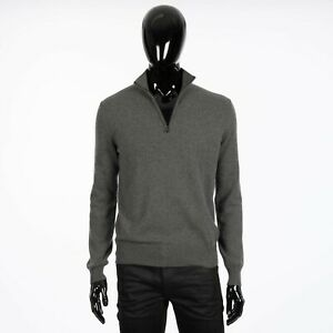 LORO-PIANA-1525-Mezzocollo-Sweater-In-Grey-Melange-Baby-Cashmere