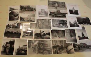 1954-Army-23-Photos-240th-Engineer-Company-Batt-Det-I-Corps-Korea-Tanks-Trucks