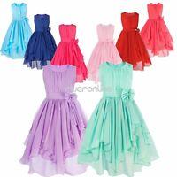 Girls Kids Flower Party Formal Wedding Bridesmaid Princess Ball Gown Prom Dress