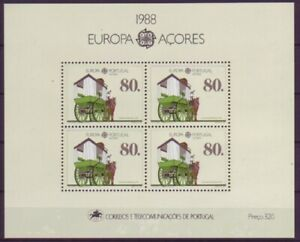 Portugal-Azoren-1988-postfrisch-MiNr-Block9-Transport-und-Kommunikationsmittel