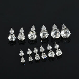 1a86ecda0988 6 Pairs Fashion Women Jewelry Silver CZ Crystal Rhinestone Ear Stud ...