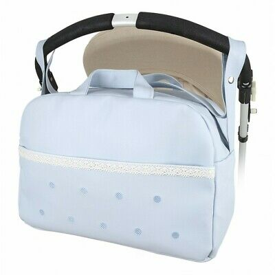 Modin Stunning Romany Spanish White  Round Top Quilted Baby Nappy Changing Bag