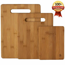 New Bamboo 3 Set Piece Cutting Board Totally Kitchen Wood Chopping Boards
