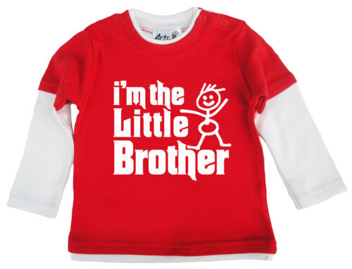 """Dirty Fingers Baby Boy Skater Top /""""I/'m the Little Brother/"""" Newborn Toddler Gift"""
