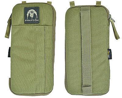 Phantom 1000D Tactical Military Multi-functional Wallet Card Pouch w/Zipper Tan