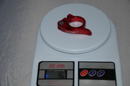 KREX Quick Release SeatPost Clamp 31.8mm  QR- U.Z BIKE Red