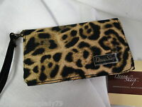 Donna Sharp Black Brown Jaguar Leopard Cellphone Wallet Canvas Material