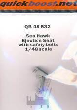 Quickboost - Sea Hawk Ejection Seat with safety belts Pilotensitz Gurte - 1:48
