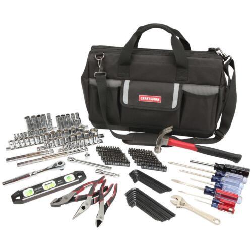 Craftsman 230 pc Mechanics Tool Set SAE//Metric Socket Ratchet Hammer Pliers wBag