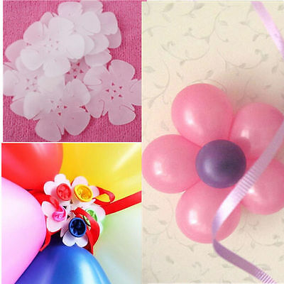 5pcs Seal Clip Plum Flower New Clip Accessories Sealing Clamp Ballons