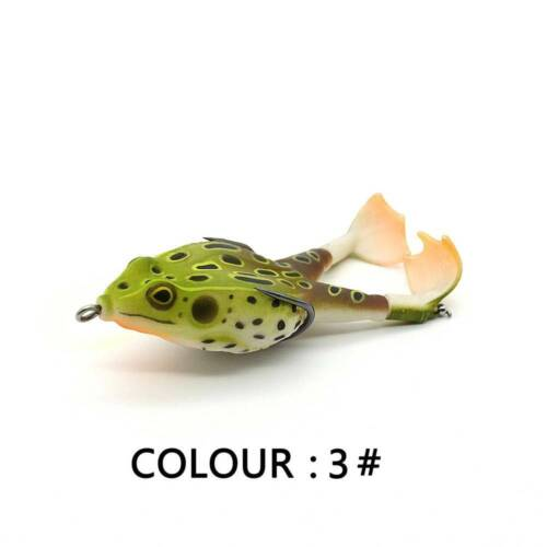 Funny Frog Double Propellers Frogs Soft Bait Soft Silicone Fishing Lures Hook UK