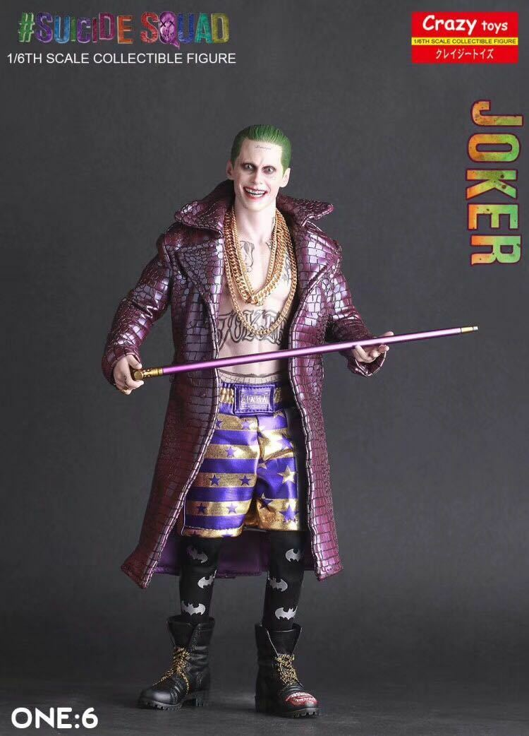 Crazy Toys Suicide Squad Joker Real Clothes 1/6 Action Figure Statue Figurine